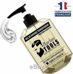 Gel de rasage transparent 150ml Pour un rasage précis des contours de barbe