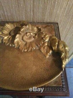 Grand Vide Poches Bronze Signé M. Bertin ART NOUVEAU