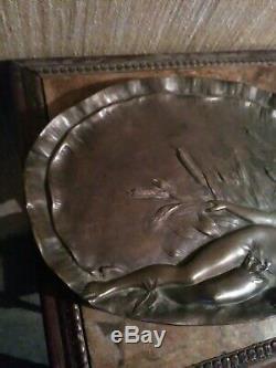 Grand Vide Poches en Bronze Art Nouveau Signé Vernier 1852-1927