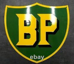 Grande plaque émaillée BP huile garage 50cm 47 cm