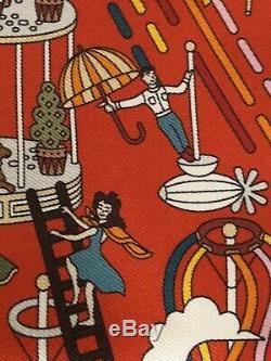 Hermès Gavroche La maison des carrés 100% soie Pierre -Marie. 41 x 41cm