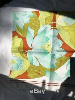 Hermes SCARF Fleurs de lotus 90 /90cm 35 / 35 inch NEW