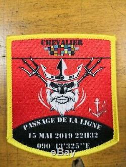 Insigne Patch AERONAVALE TRÈS TRÈS RARE FLOTTILLE 12F 17F BOUM Porte-Avion