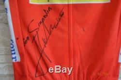 Jersey signed Alberto Contador Tinkoff tour de france vuelta giro cycling froome