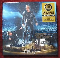Johnny Hallyday Rare Coffret Stade de France 98 Edité à 2000 EX. Neuf Sous Blist
