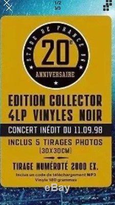 Johnny Hallyday Stade De France Coffret 4 Lp, Vinyle Edition Limitée Numéroté
