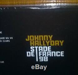 Johnny Hallyday, Stade de France 98 collector coffret 4 LP vinyl couleur