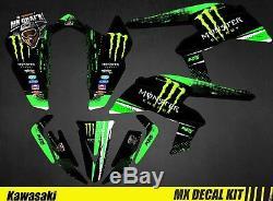 Kit Déco Quad pour / Atv Decal Kit for Kawasaki KFX 450 R Monster