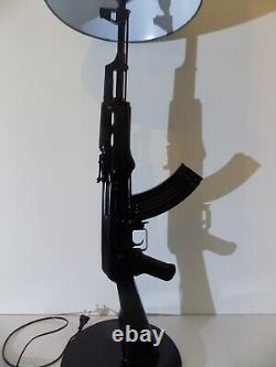 LAMPE DESIGN AK47 KALASHNIKOV NOIR chevet bureau table salon lamp kalash ak gun