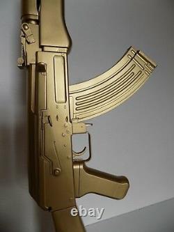 LAMPE DESIGN AK47 KALASHNIKOV OR (chevet bureau table salon lamp kalash ak gun)