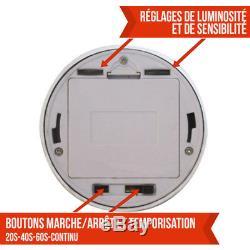 LINXOR FRANCE LAMPE DETECTEUR DE MOUVEMENT NOIR INFRAROUGE 6 LED / Capteur