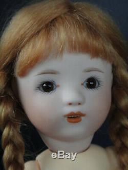 LOULOTTE en porcelaine 24 cm Yeux marrons Sur de Bleuette FRANCE