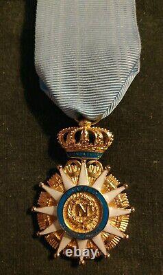 Lot 3 décorations 1er Empire l'Ordre de la Réunion, des 2 Siciles Reproductions