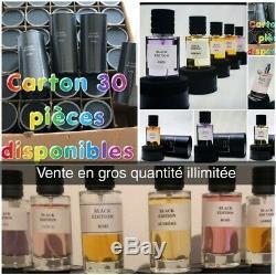 Lot de 8 parfums Collection Privé Bois N°1 d'argent Black Edition