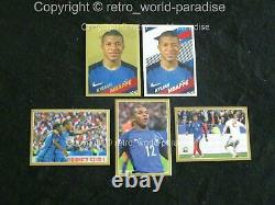 MBAPPE PANINI x5 STICKERS 2018 IMAGES GOLD SILVER ACTION MINT NEW 10/10