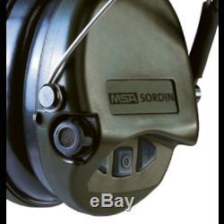 MSA Safety Sordin Supreme vert kaki Casque anti bruit chasse et tir
