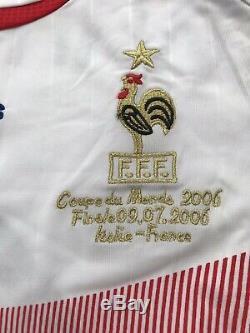 Maillot Football Signé France 2006 Makélélé COA Nantes Chelsea Madrid Taille M