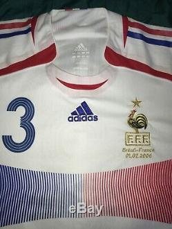Maillot Jersey France 2006 World Cup Worn By Éric Abidal France-Brésil Porté