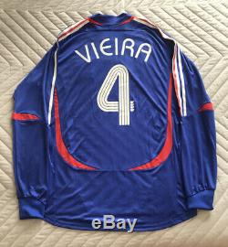 Maillot Jersey Vieira France World Cup 2006 Porté Worn Formotion Player Issue