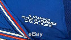 Maillot Rugby #10 Ntamack match Pays de Galles France Coupe du monde 2019 L