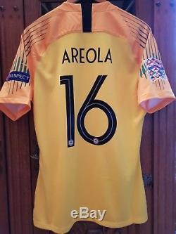 Maillot équipe de France 2018 A. AREOLA N°16 Préparé non porté -Neuf PSG No OM