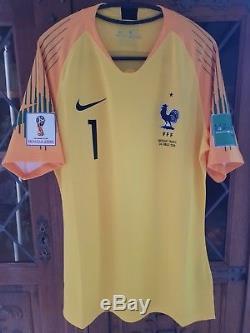 Maillot équipe de France 2018 H. LLORIS N°1 Préparé non porté Neuf