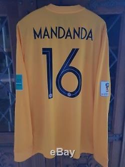 Maillot équipe de France 2018 S. MANDANDA N°16 Préparé non porté Neuf OM No PSG