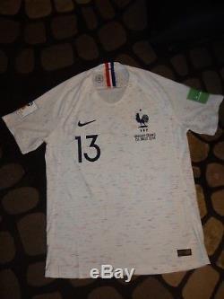 Maillot non porté N'GOLO KANTE URUGUAY FRANCE COUPE DU MONDE match no worn shirt