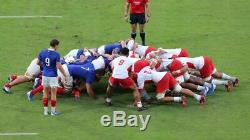 Maillot rugby FFR équipe de France pro word cup 2019 le coq sportif porte