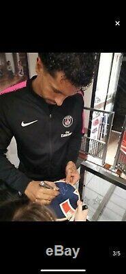Maillot signé marquinhos psg non porté ligue 1 nike football France Brésil paris