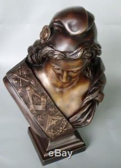 Marianne maçonnique de Jacques FRANCE en bronze d'Art