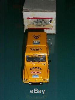 MiniRacing monté 1/43 PEUGEOT P4 CAMEL Citrôen sport BOIN DAKAR 1991