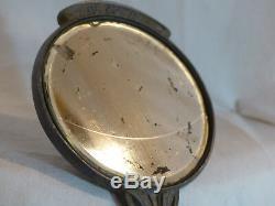 Miroir Face main ancien Etain art nouveau Georges de Feure Buste femme 1900 n°2