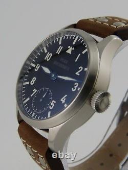 Montre Flieger Type A PURE MECANIQUE Type Unitas 6498 B-Uhr pilot SAPHIR BGW9