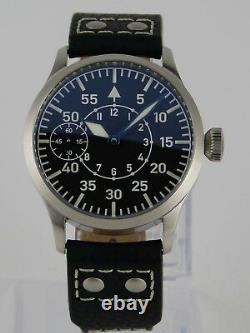 Montre Flieger Type B PURE MECANIQUE Type Unitas 6497 B-Uhr pilot SAPHIR BGW9