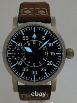 Montre Flieger Type B PURE MECANIQUE Type Unitas 6497 B-Uhr pilot SAPHIR SANDY