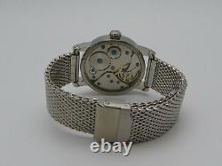 Montre LEFTY MONO BlueSunray PURE MECANIQUE Type 6497 SAPHIR single hand watch