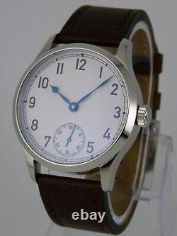 Montre MARINE 41mm PURE MECANIQUE Type Unitas 6498 SAPHIR BLUED HANDS watch