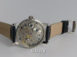 Montre MONO BlueSunray PURE MECANIQUE Type Unitas 6498 SAPHIR single hand watch