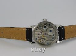 Montre Marine Roman Black 41mm PURE MECANIQUE Type Unitas 6498 SAPHIR watch