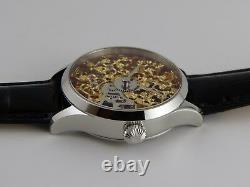 Montre squelette GOLD 41mm PURE MECANIQUE Type Unitas 6498 skeleton watch