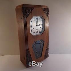 N2055 Horloge carillon mural style ODO art nouveau déco 1920 1930 XXe PN France