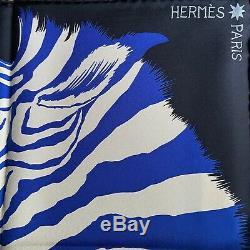NEW + BOX / Foulard Hermès / Carré / Hermes Scarf / ZEBRA PEGASUS / A. Shirley