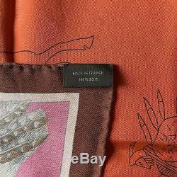 NEW / Foulard Hermès / Carré wash / Hermes wash Scarf / Pani la Shar / Kermit