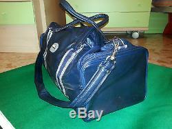 NOS adidas vintage bag france leather run tennis camping lendl 80s 90s RARE