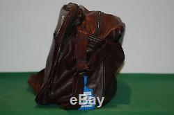 NOS adidas vintage bag france leather run tennis camping retro 80s 90s RARE