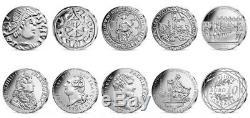 NOUVEAU 9 MONNAIES x 10 EURO ARGENT HISTOIRE DE FRANCE BERN PRIX SPECIAL