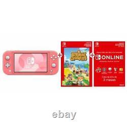 Nintendo Switch Lite Corail + Animal Crossing Téléchargement+ Abonnement 3 Mois