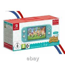 Nintendo Switch Lite Turquoise + Animal Crossing Téléchargement + Abonnement 3