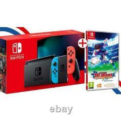 Nintendo Switch Neon + Captain Tsubasa Code En Boite